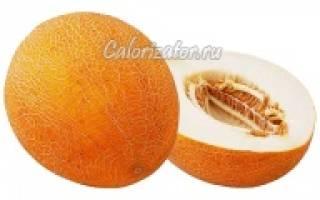 Сколько калорий в дыне